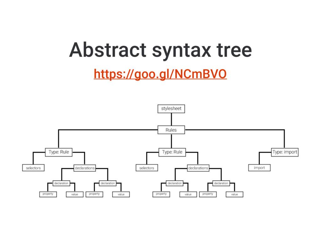 https://goo.gl/NCmBVO Abstract syntax tree