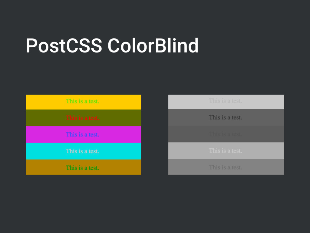 PostCSS ColorBlind