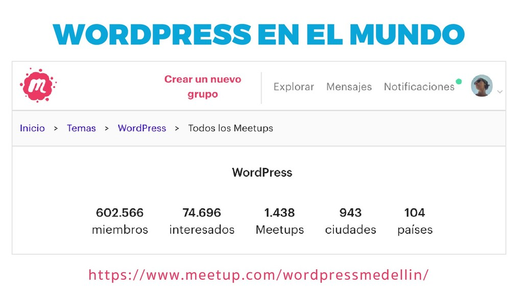 WORDPRESS EN EL MUNDO https://www.meetup.com/wo...