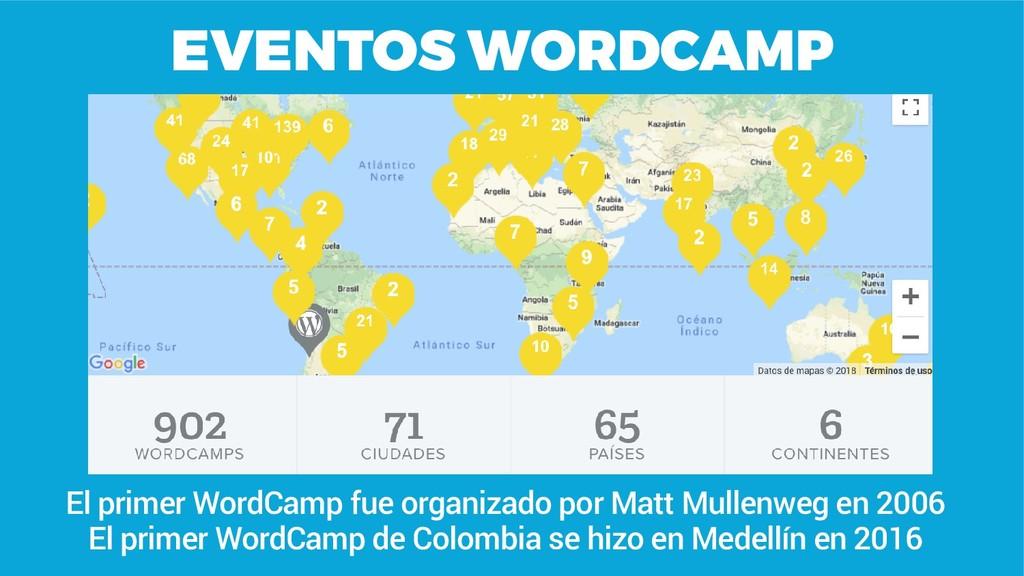EVENTOS WORDCAMP El primer WordCamp fue organiz...