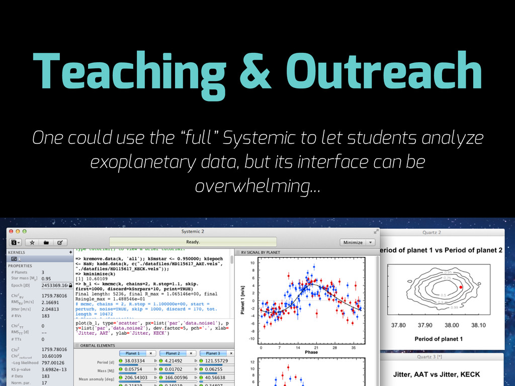 "Teaching & Outreach One could use the ""full"" Sy..."