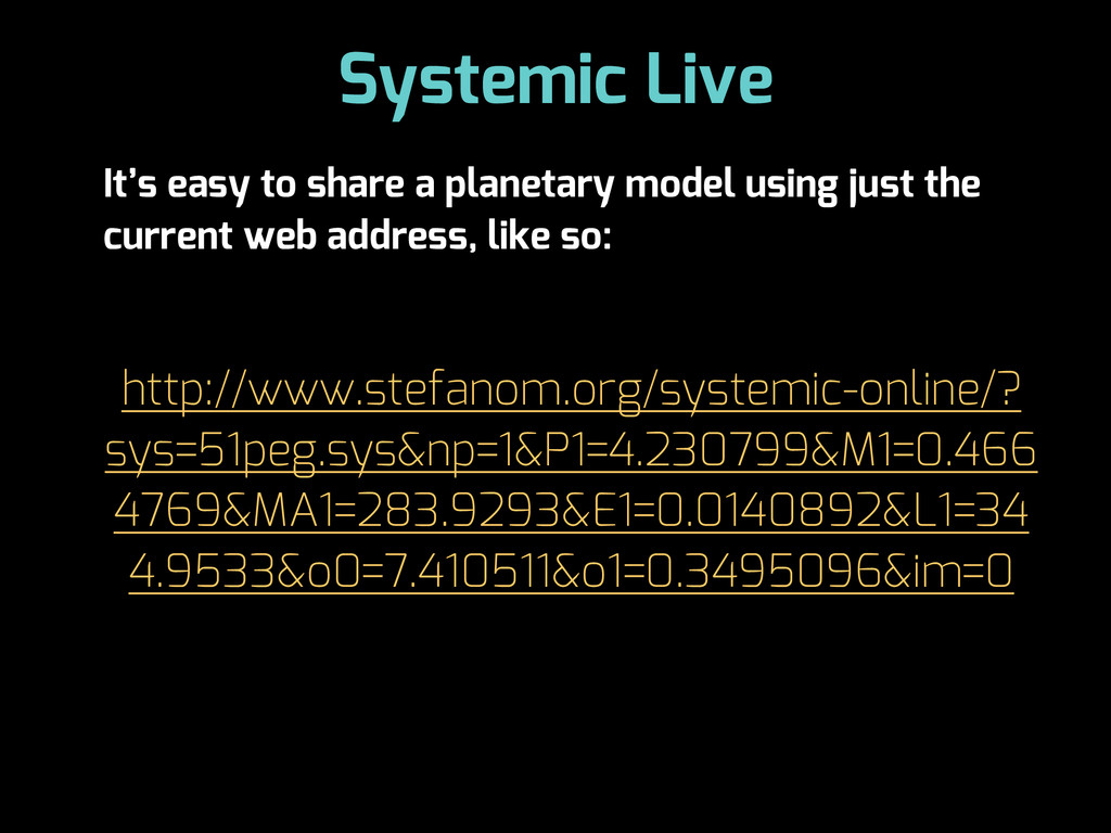 Systemic Live It's easy to share a planetary mo...