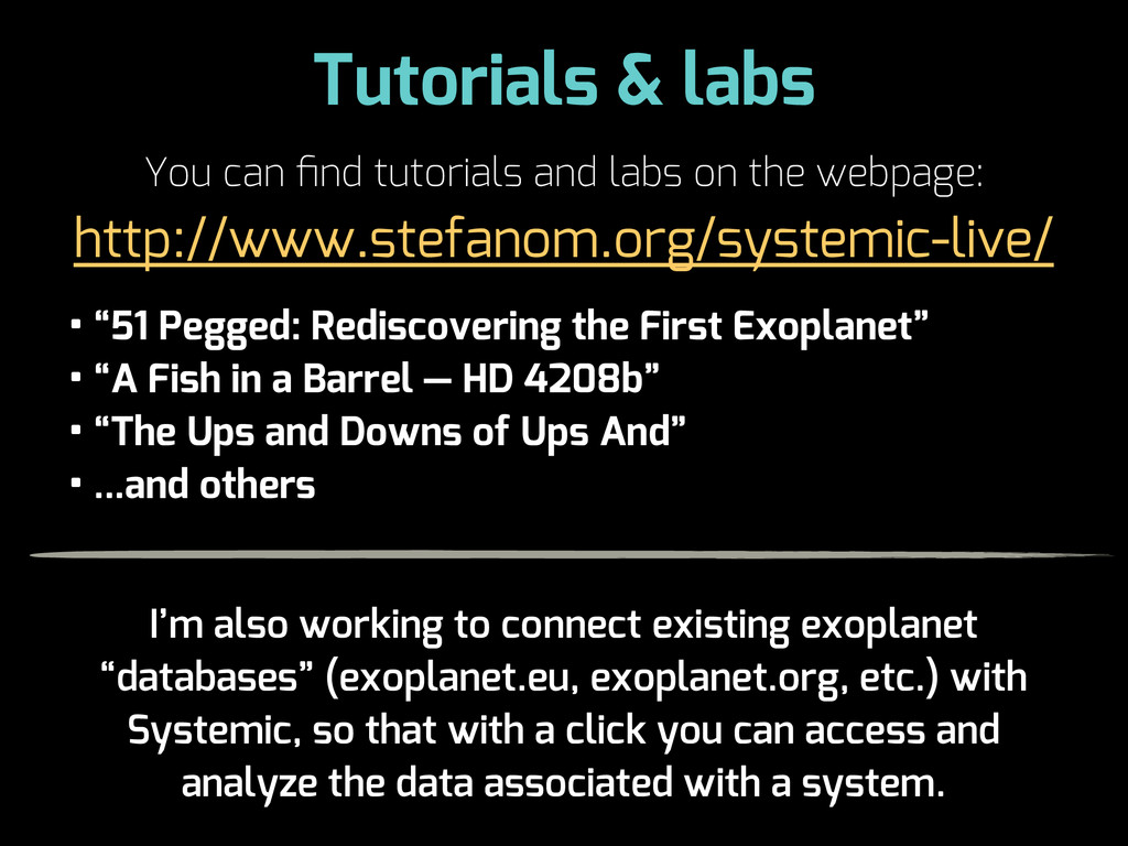 Tutorials & labs You can find tutorials and labs...