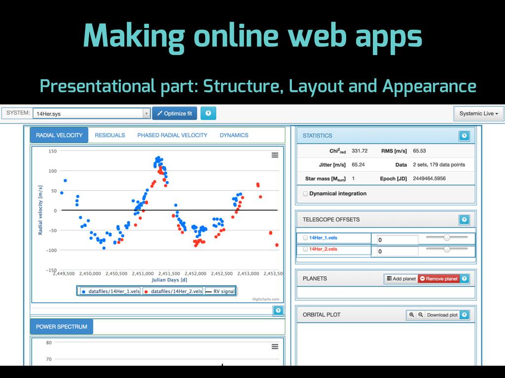 Making online web apps Presentational part: Str...