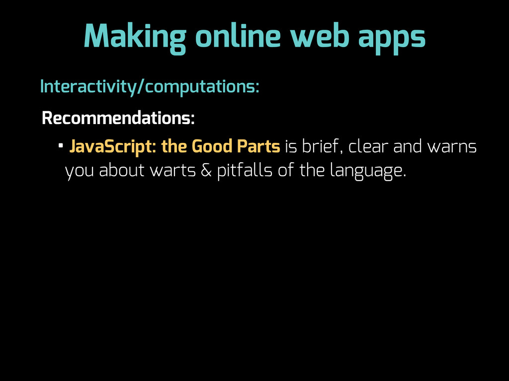 Making online web apps Recommendations: Interac...