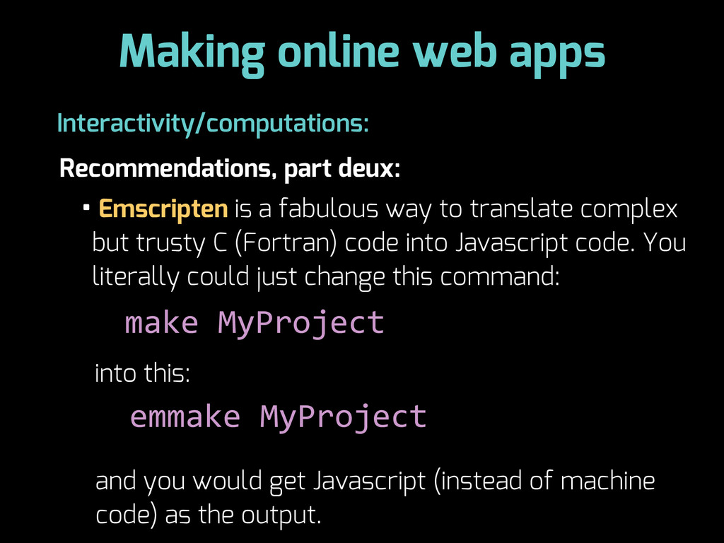 Making online web apps Recommendations, part de...