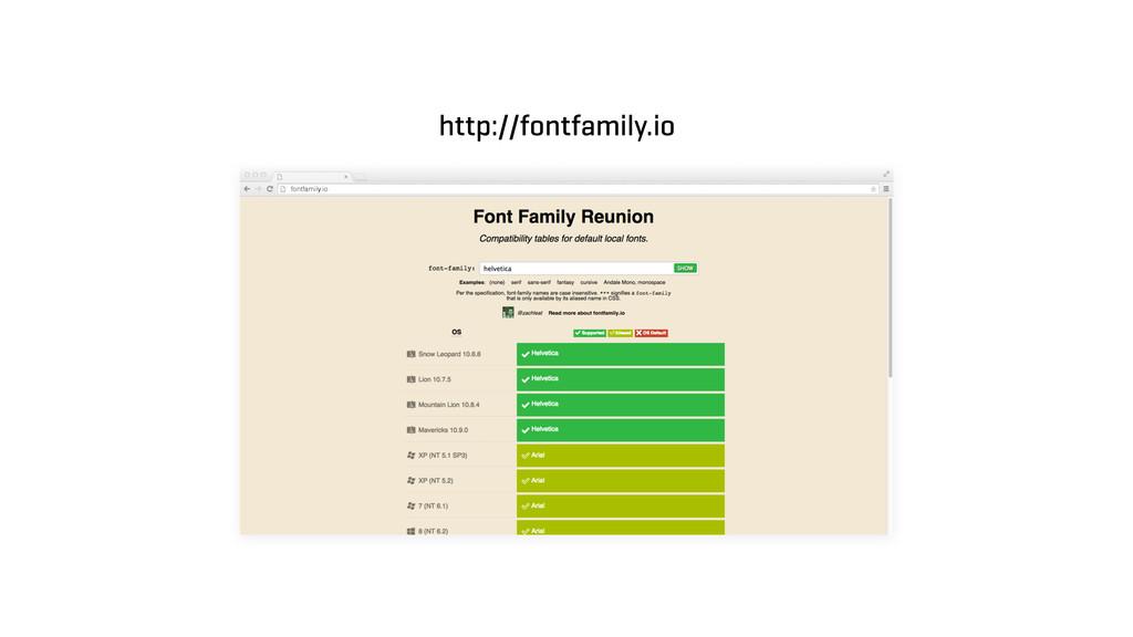 fontfamily.io http://fontfamily.io