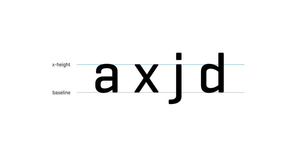 a x j d x-height baseline