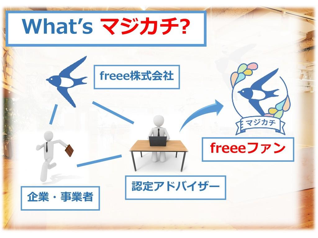 What's マジカチ? freee株式会社 企業・事業者 認定アドバイザー freeeファン