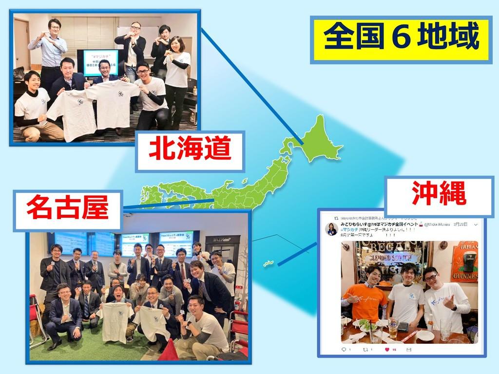 北海道 名古屋 沖縄 全国6地域