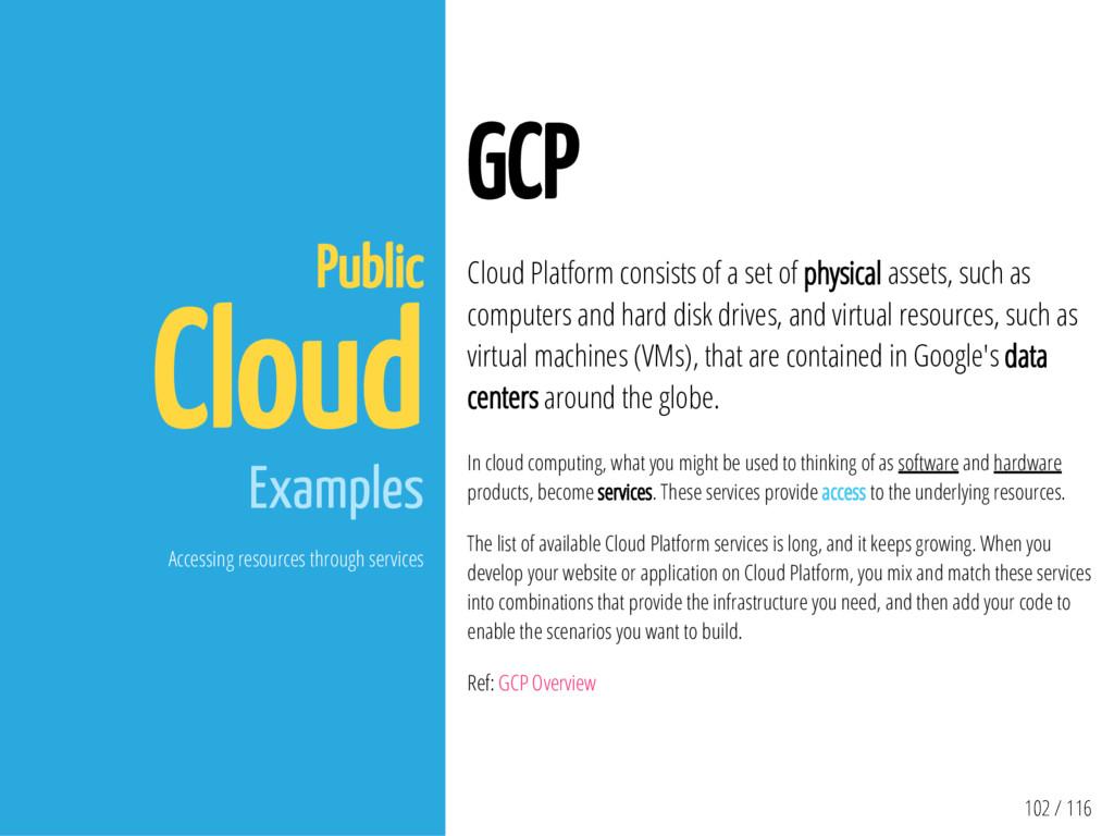 102 / 116 Public Cloud Examples Accessing resou...
