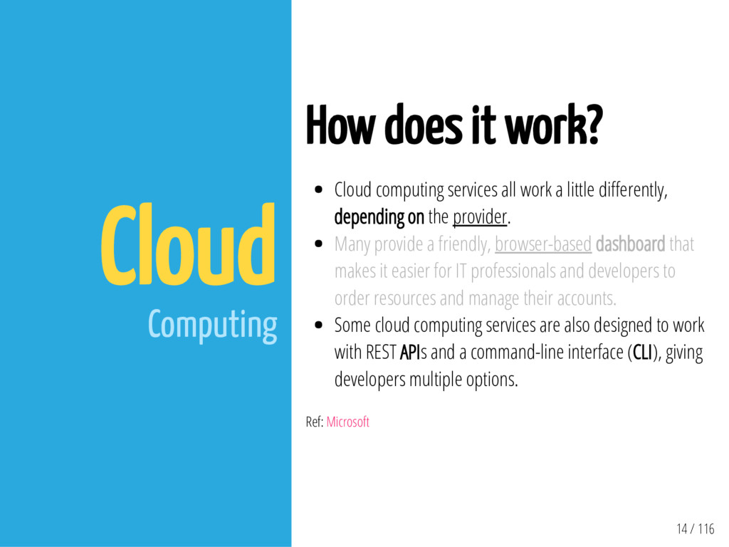 14 / 116 Cloud Computing How does it work? Clou...