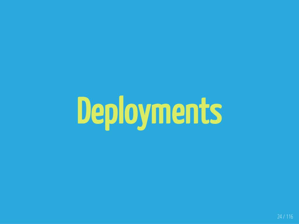 Deployments 24 / 116