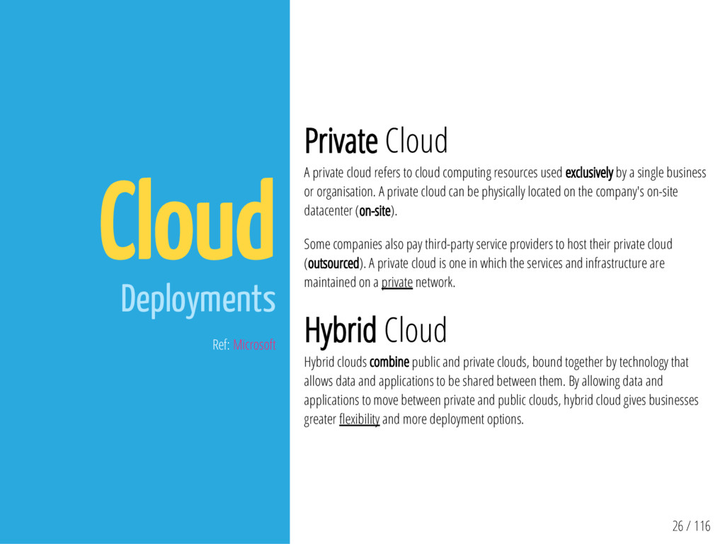26 / 116 Cloud Deployments Ref: Microsoft Priva...