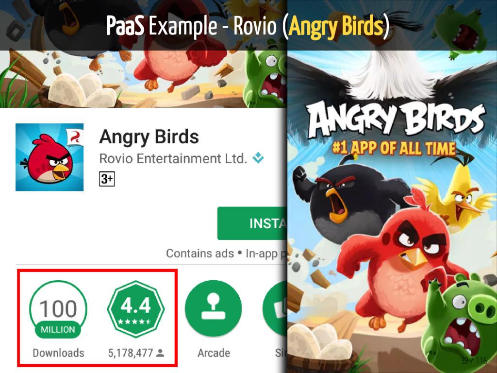 PaaS Example - Rovio (Angry Birds) 32 / 116
