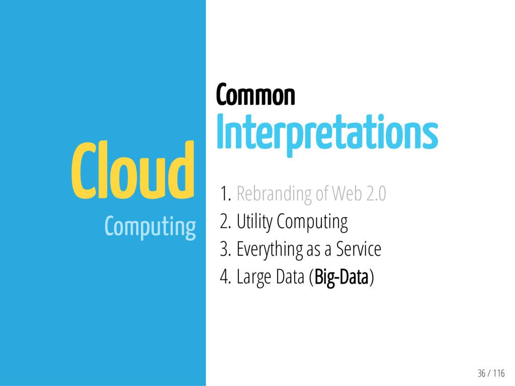 36 / 116 Cloud Computing Common Interpretations...