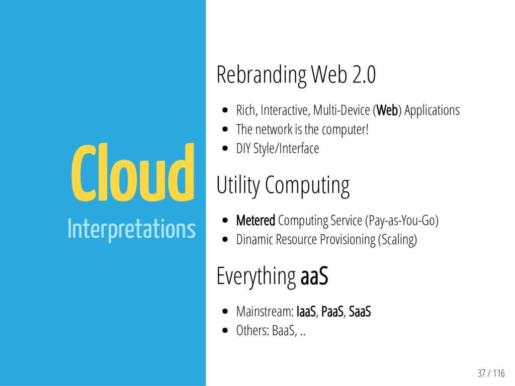 37 / 116 Cloud Interpretations Rebranding Web 2...