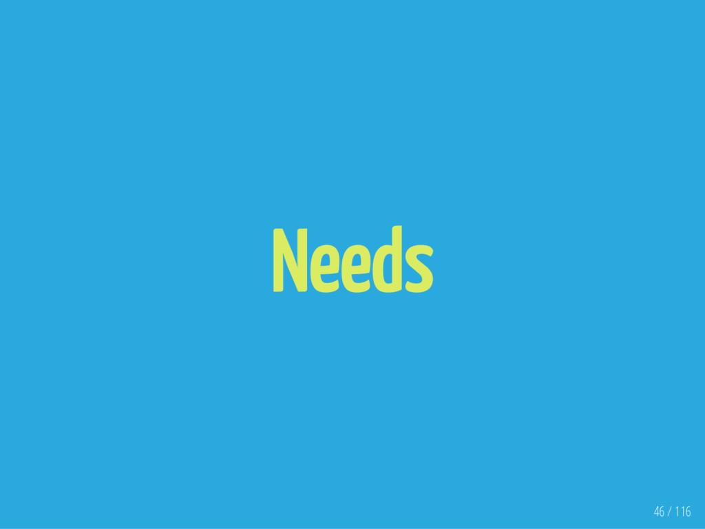 Needs 46 / 116