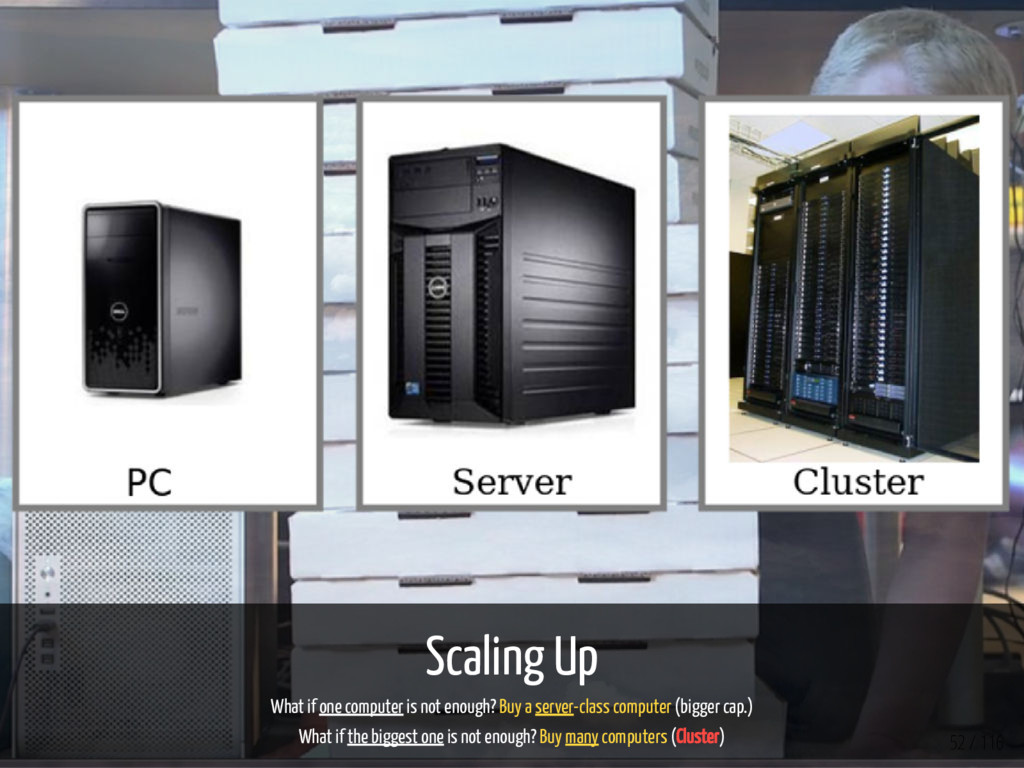Scaling Up What if one computer is not enough? ...