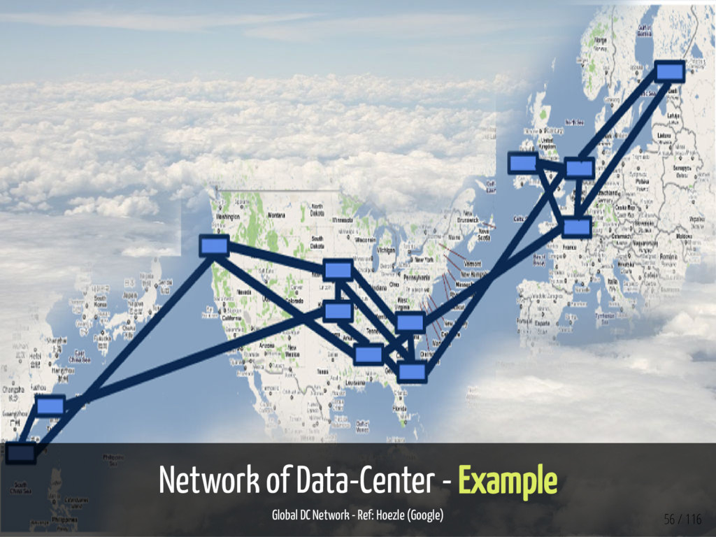 Network of Data-Center - Example Global DC Netw...