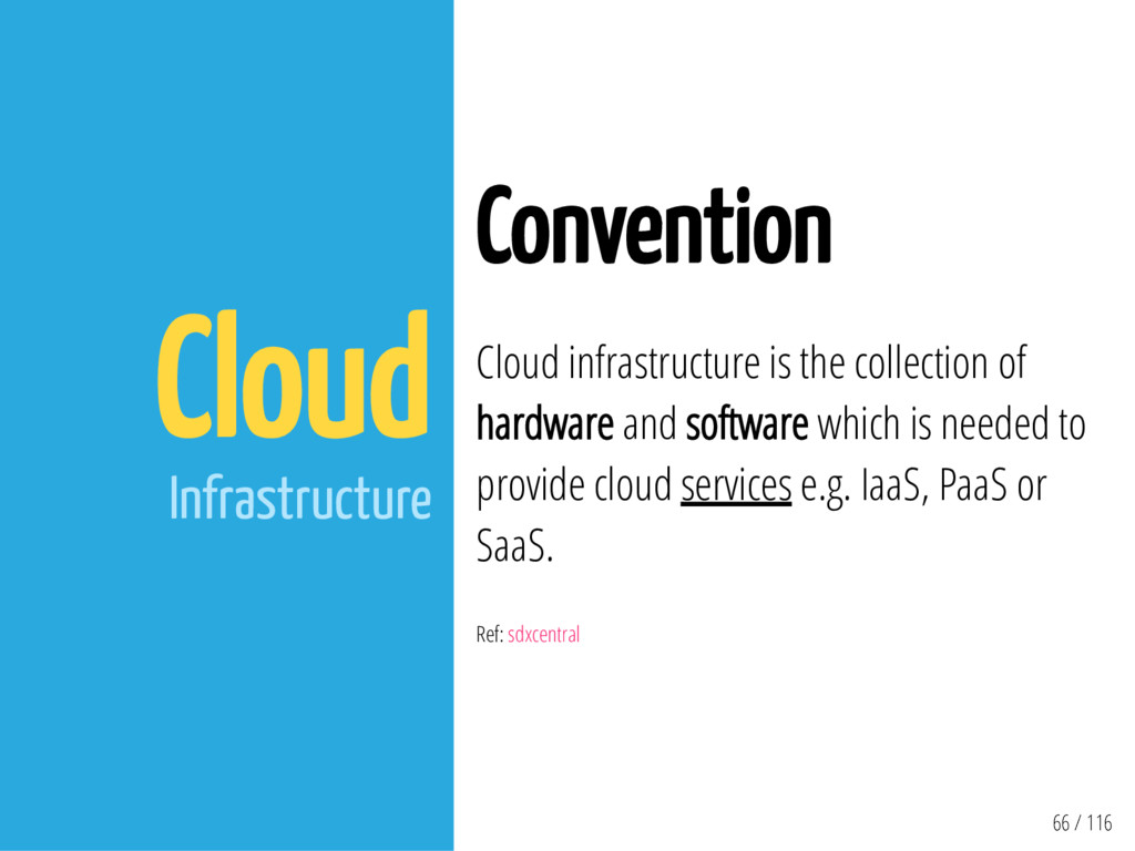 66 / 116 Cloud Infrastructure Convention Cloud ...