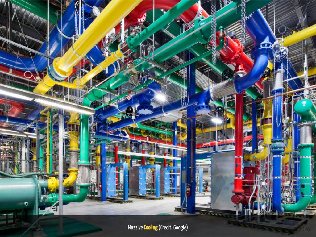 Massive Cooling (Credit: Google) 77 / 116