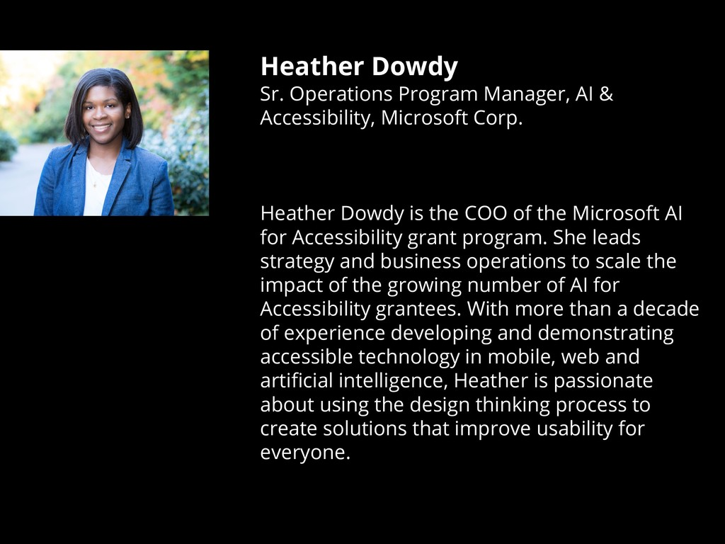 Heather Dowdy Sr. Operations Program Manager, A...