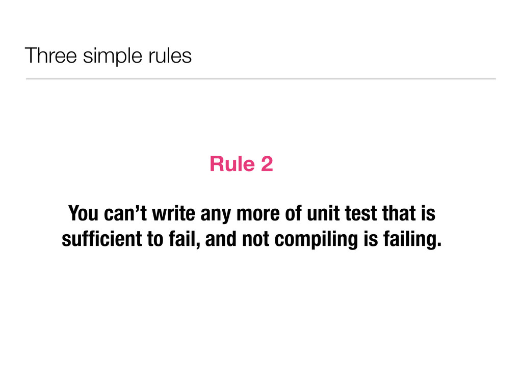 Three simple rules You can't write any more of ...