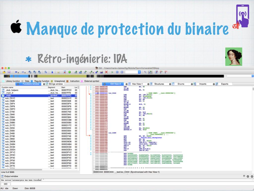 Manque de protection du binaire Rétro-ingénieri...