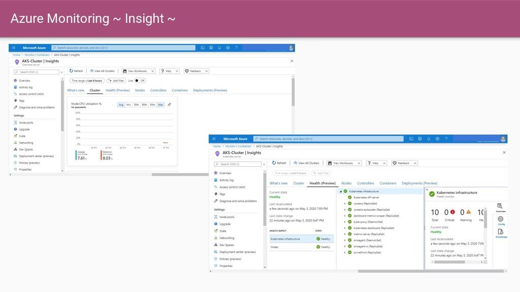 Azure Monitoring ~ Insight ~