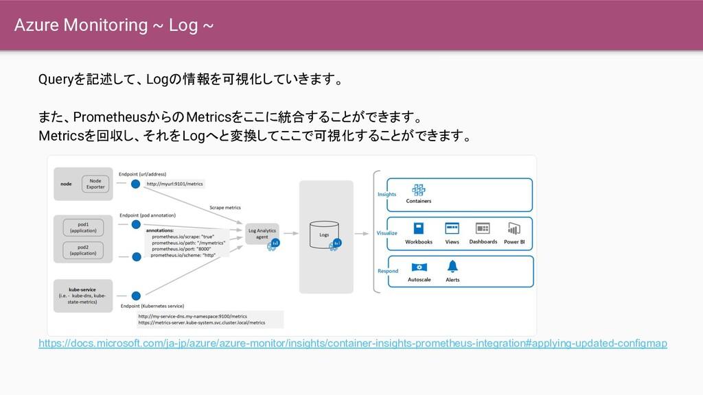 Azure Monitoring ~ Log ~ Queryを記述して、Logの情報を可視化し...
