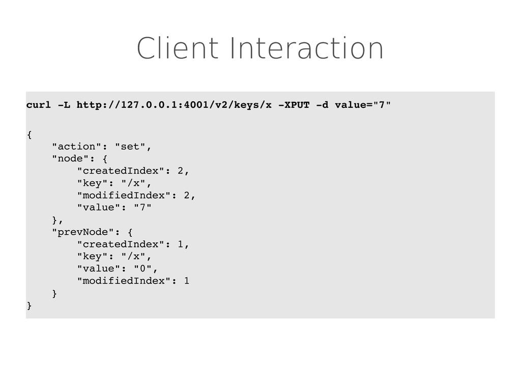 Client Interaction curl L http://127.0.0.1:400...