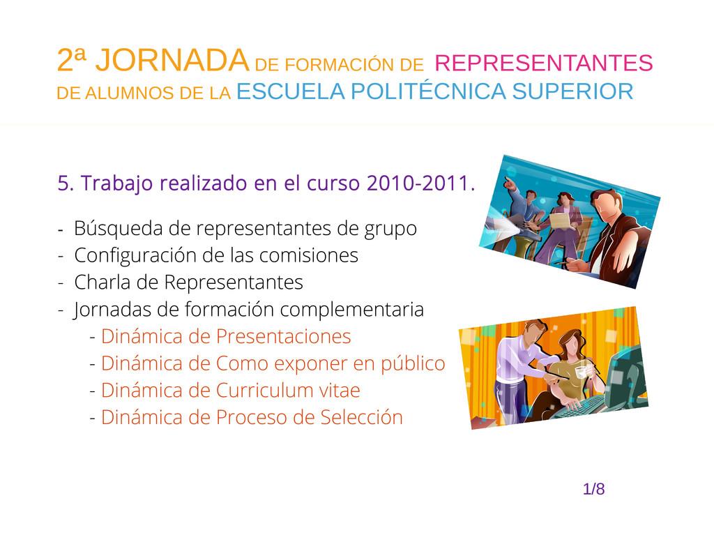 5. Trabajo realizado en el curso 2010-2011. - B...