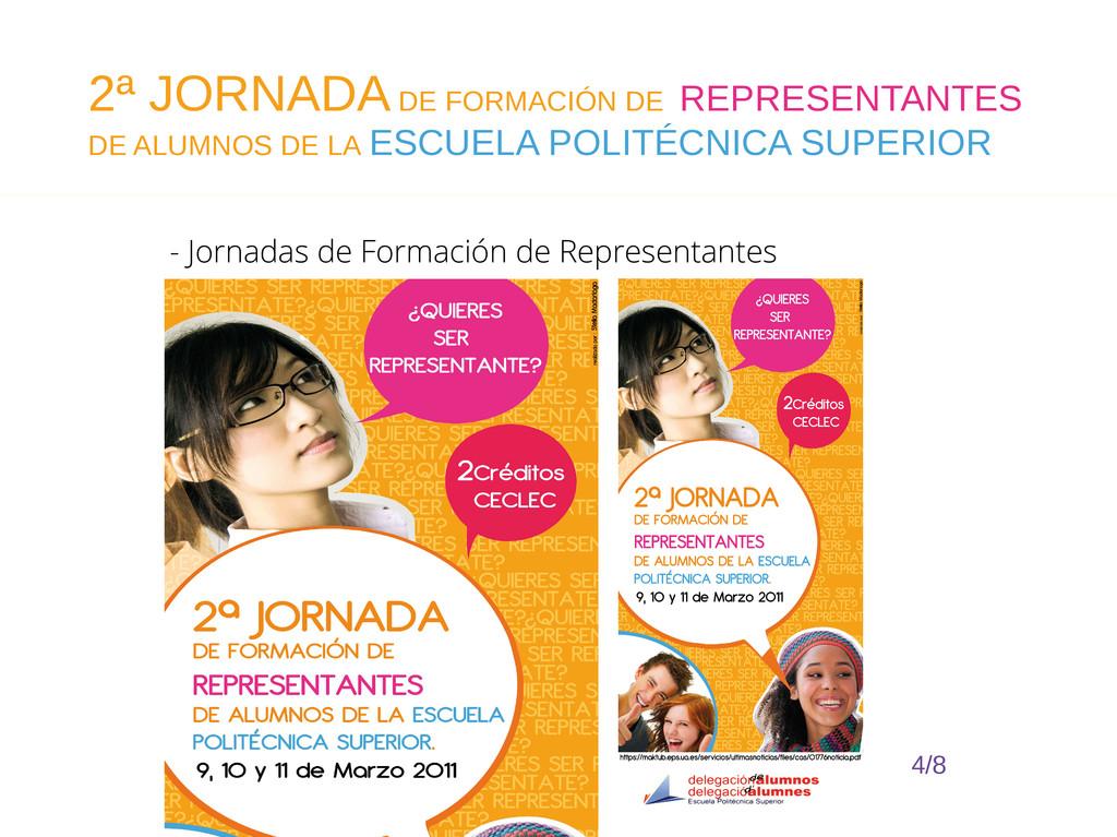 - Jornadas de Formación de Representantes 4/8 2...