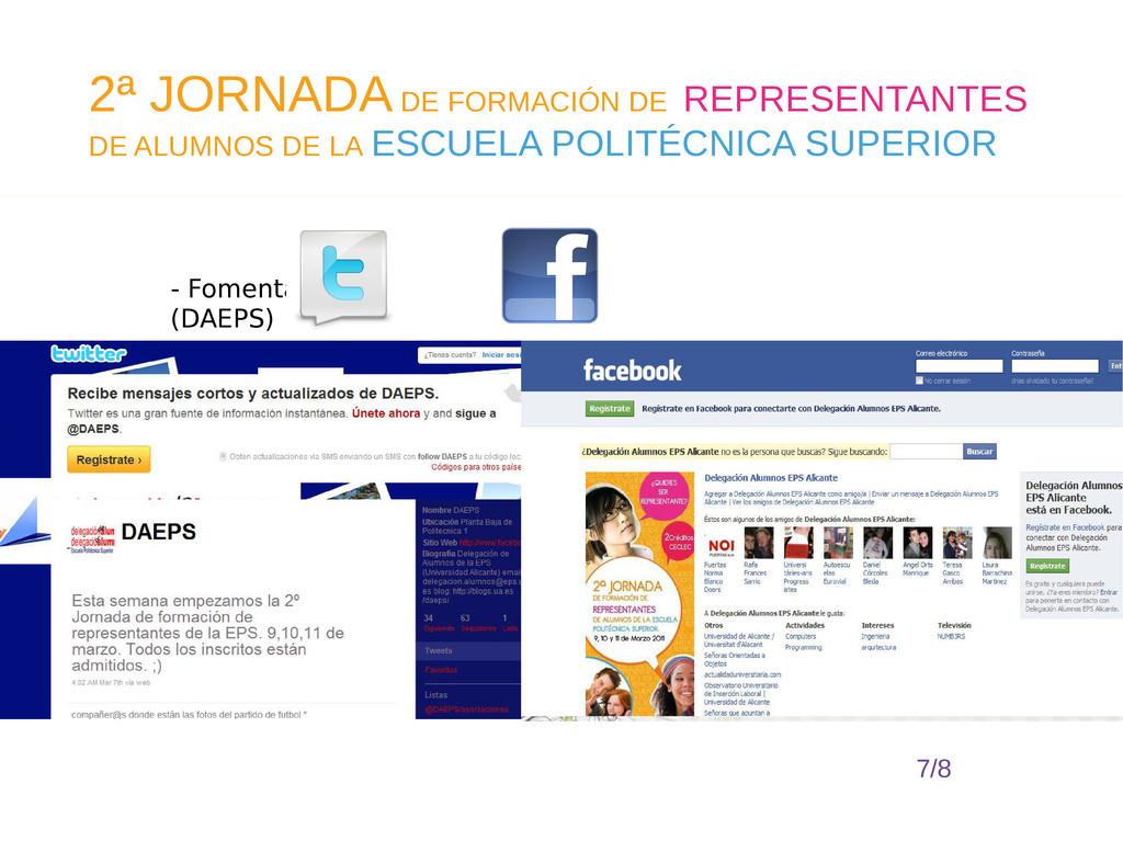 - Fomentar & (DAEPS) 7/8 2ª JORNADA DE FORMACIÓ...