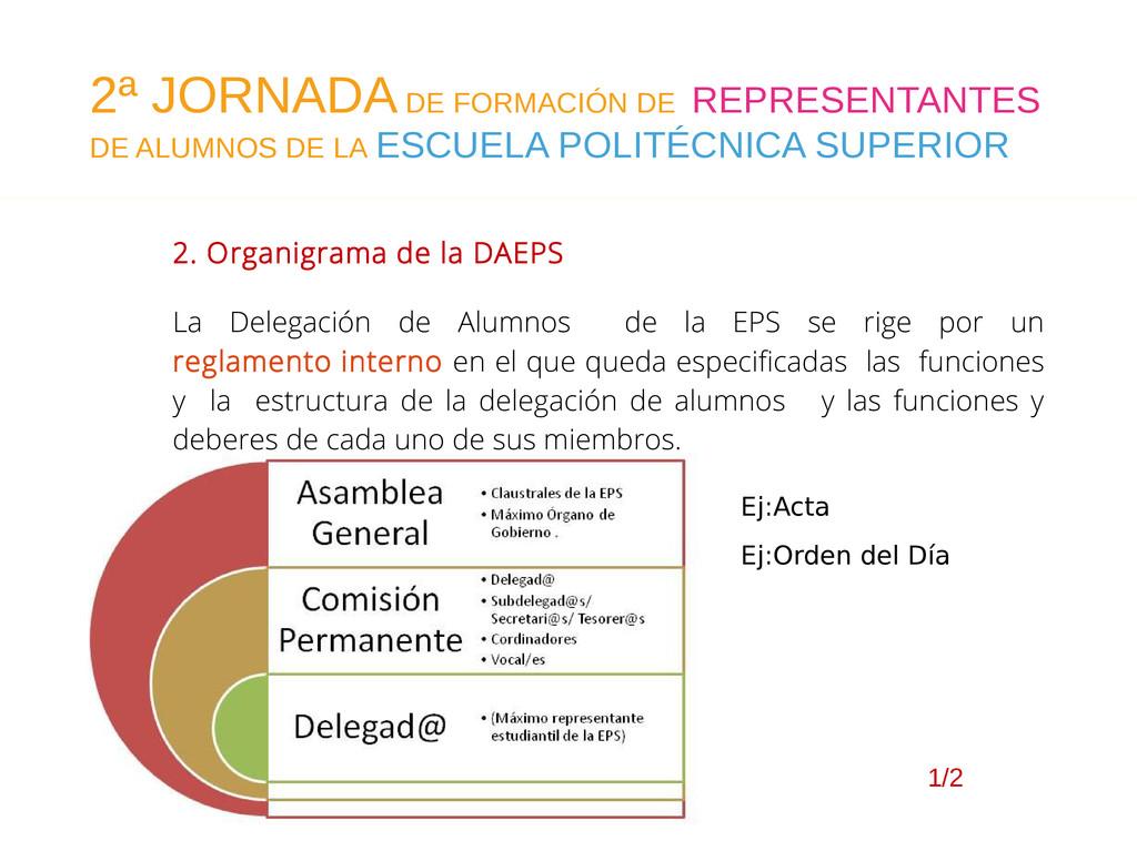 2. Organigrama de la DAEPS La Delegación de Alu...
