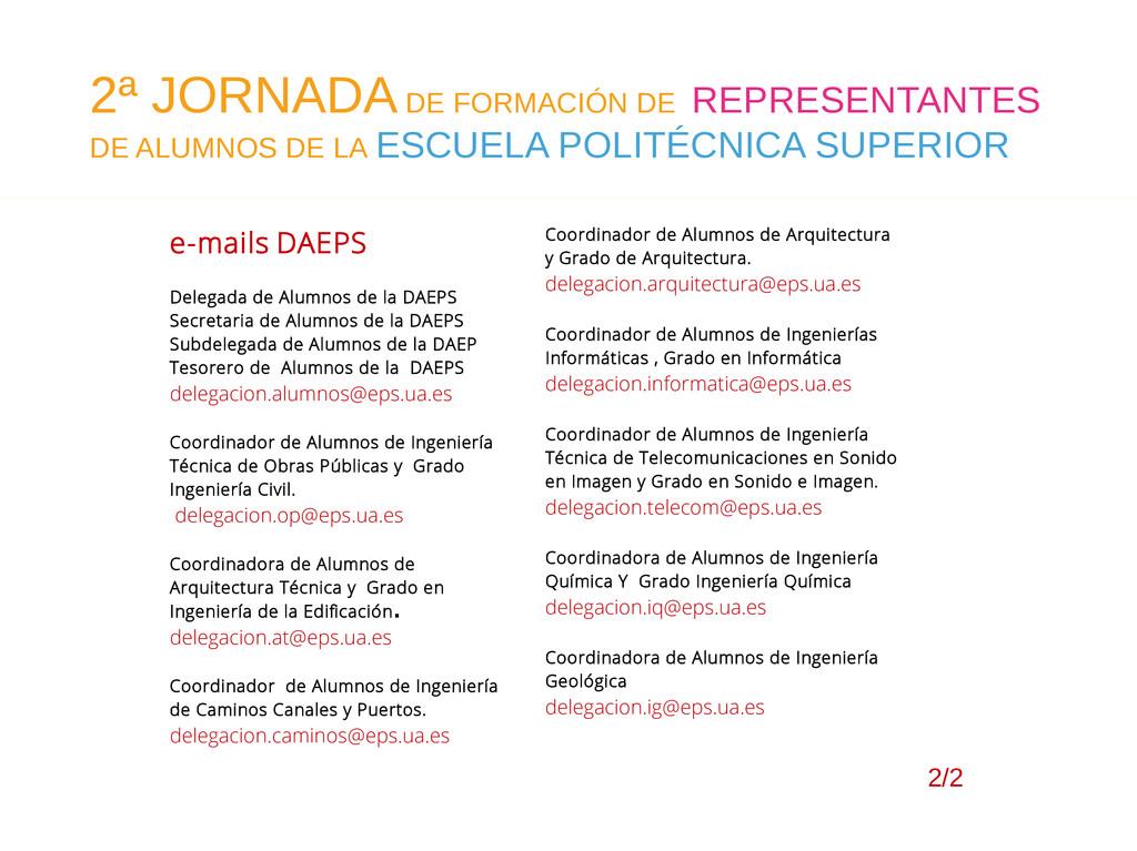 2/2 e-mails DAEPS Delegada de Alumnos de la DAE...
