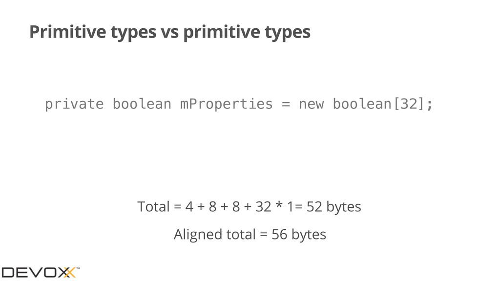 Primitive types vs primitive types private bool...