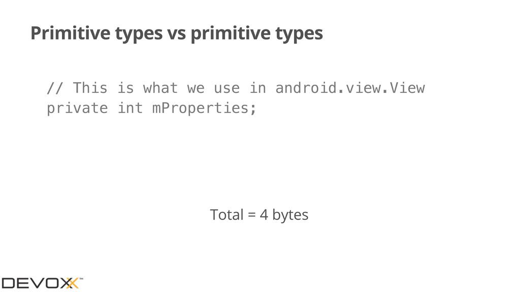 Primitive types vs primitive types private int ...