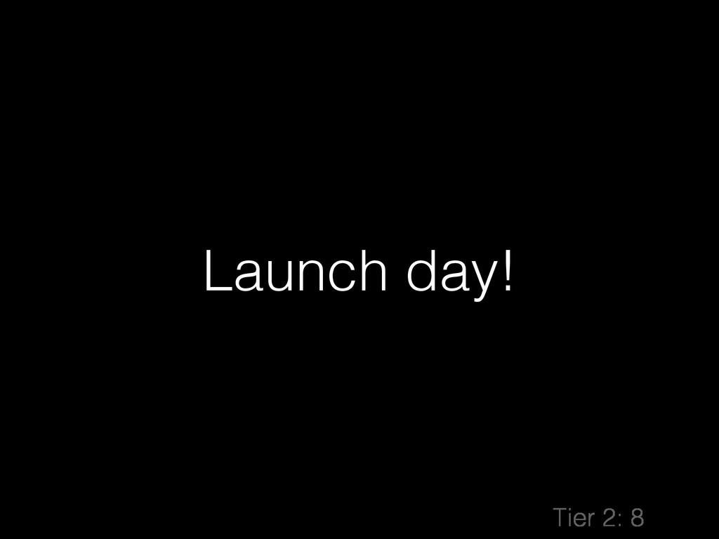 Launch day! Tier 2: 8