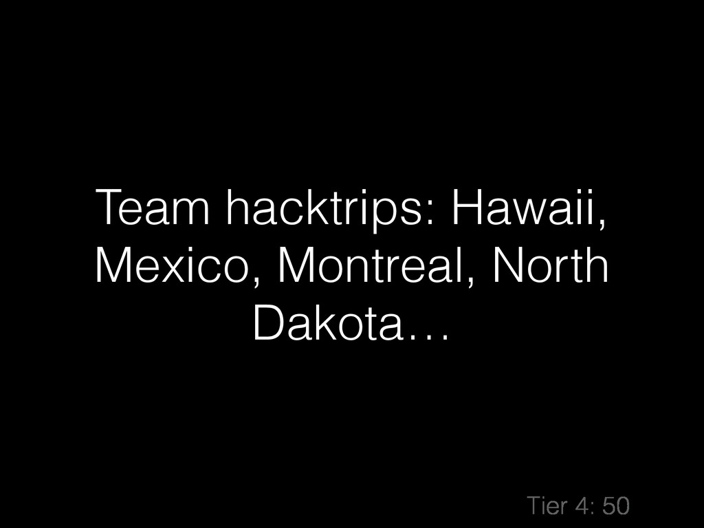 Team hacktrips: Hawaii, Mexico, Montreal, North...