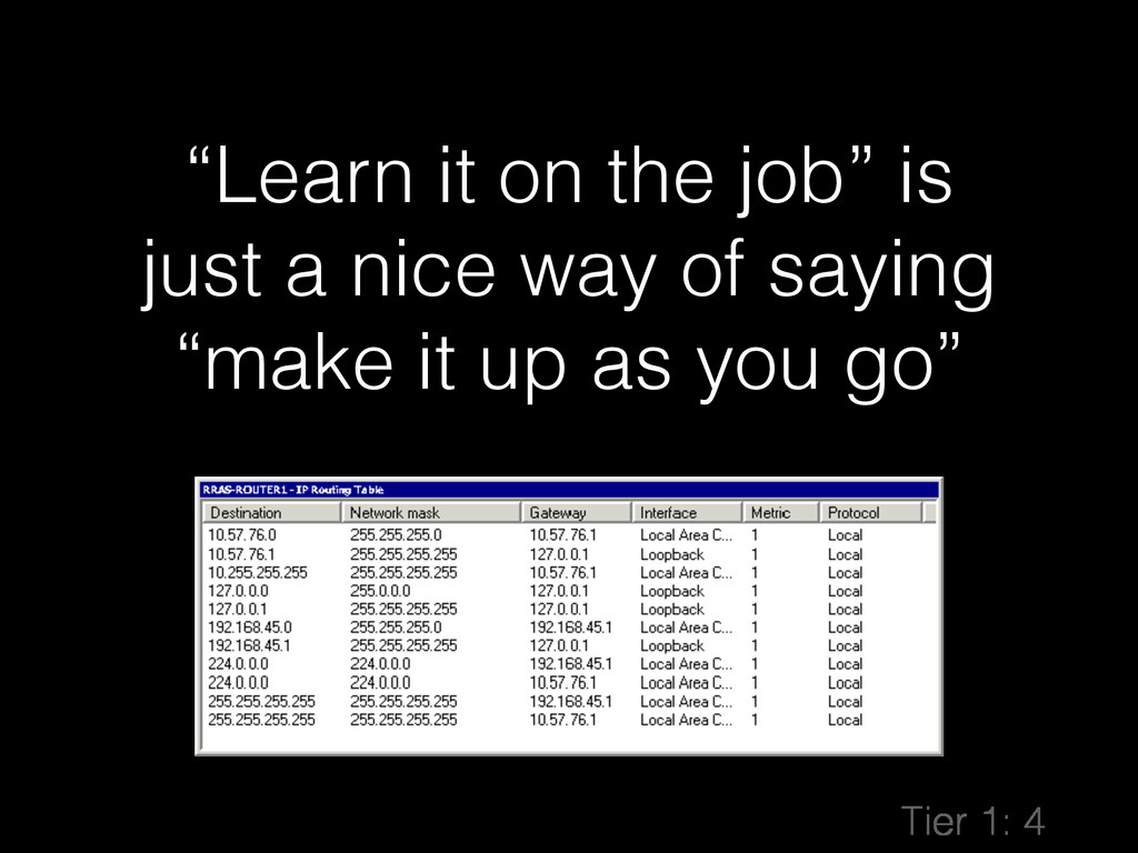 """""""Learn it on the job"""" is just a nice way of say..."""