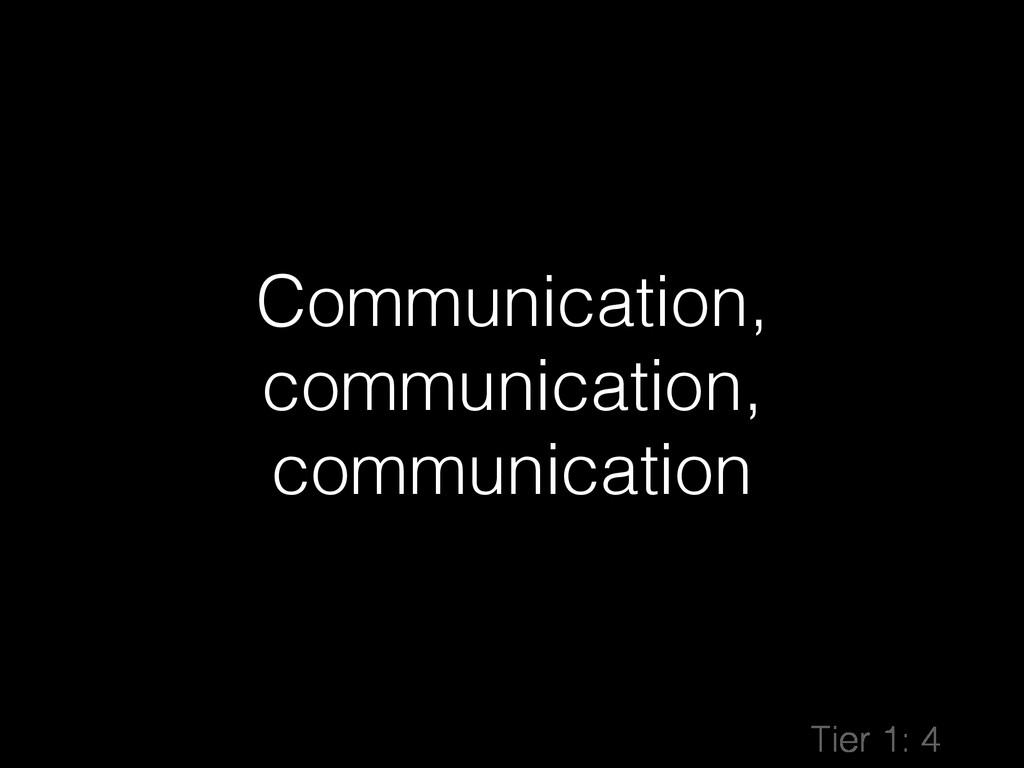 Communication, communication, communication Tie...