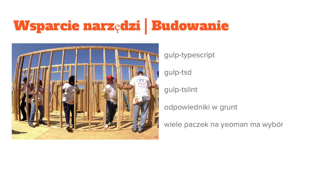 Wsparcie narzędzi | Budowanie gulp-typescript g...