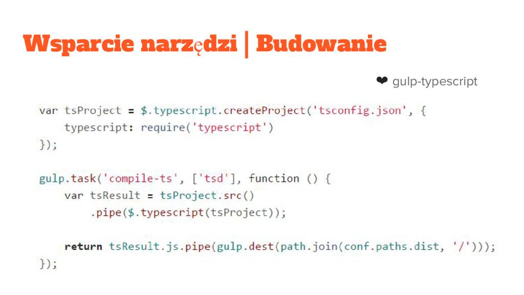 Wsparcie narzędzi | Budowanie ❤ gulp-typescript