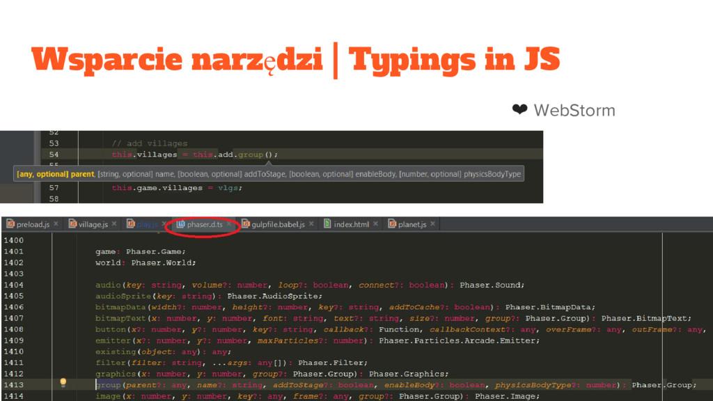 Wsparcie narzędzi | Typings in JS ❤ WebStorm