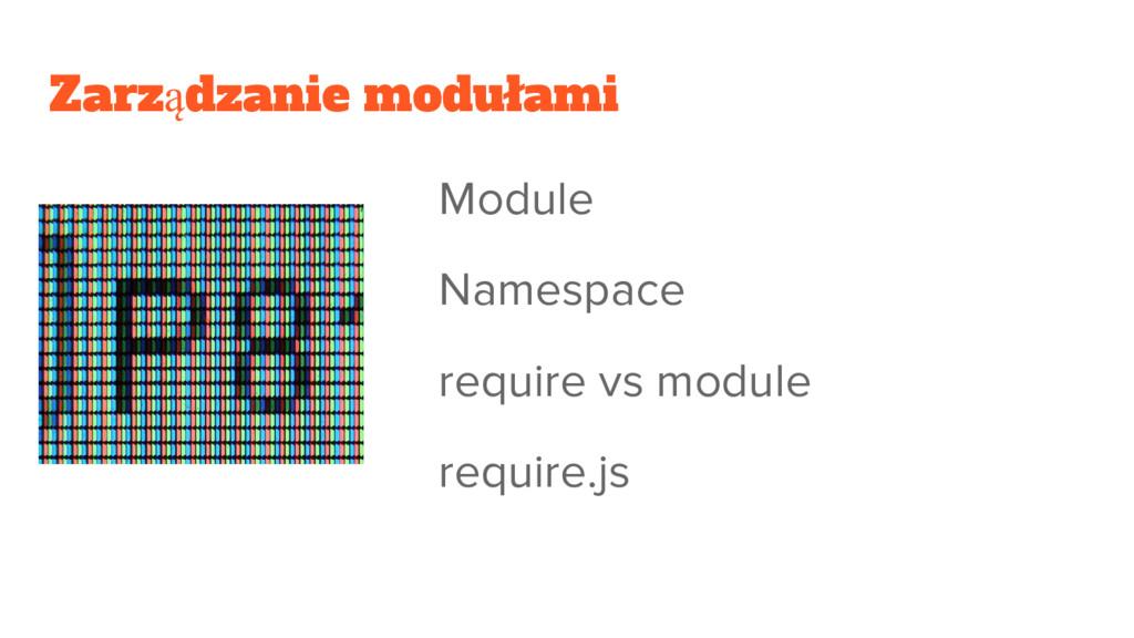 Zarządzanie modułami Module Namespace require v...