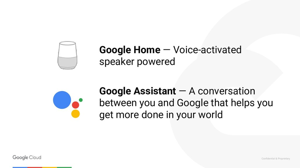 Confidential & Proprietary Google Home — Voice-...