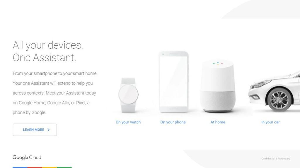 Confidential & Proprietary Google Home
