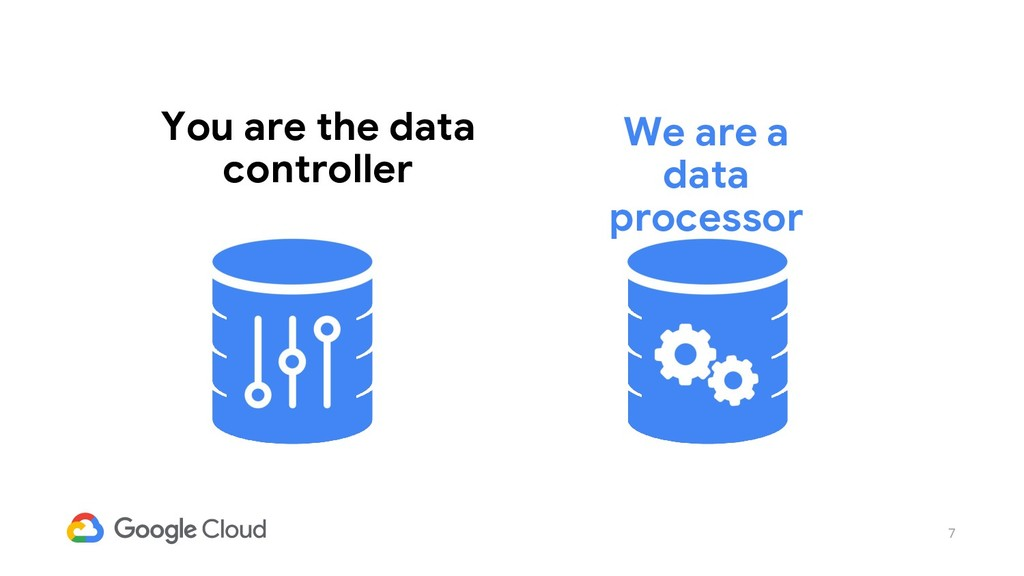 7 You are the data controller We are a data pro...